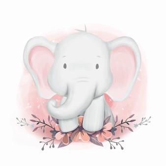 ベビーシャワー象の性別中立
