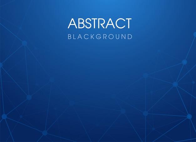 青の抽象的な技術接続ポリゴンの背景。イラストベクター。