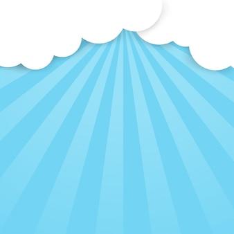 雲の切れ間から光が輝いています。