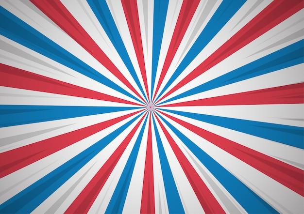愛国心の漫画のスタイルを示す抽象の背景。