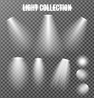 Коллекция освещения на прозрачном
