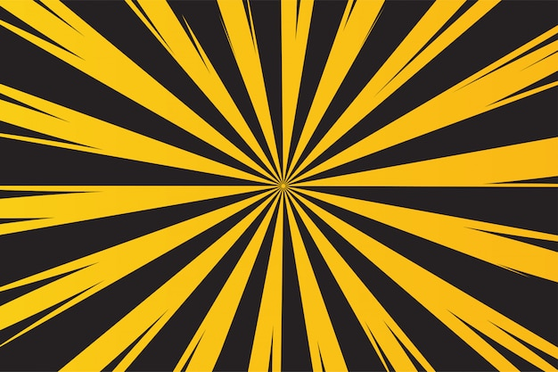 Желтые и черные лучи фон для предупреждения об опасности.