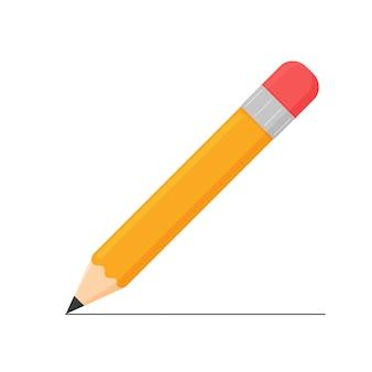 Деревянный карандаш, желтый деревянный карандаш изолировать на белом