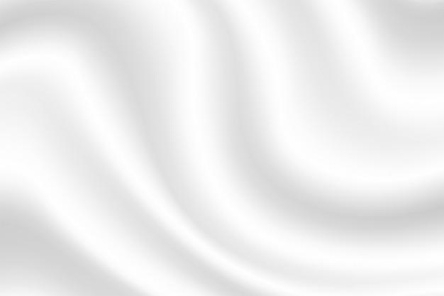 ミルクとヨーグルトのクリームのような白い布の白い背景の波。