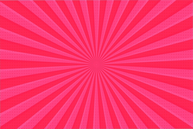 ピンクのレイの背景。背景から広がる明るい光線は、バレンタインの日に甘く見えます。