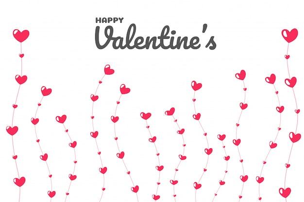 愛の日にハートツリー。バレンタインデーに成長している愛の木。