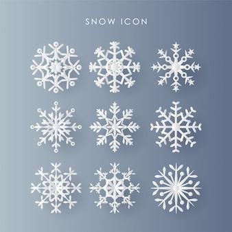 クリスマスの日の雪のアイコン