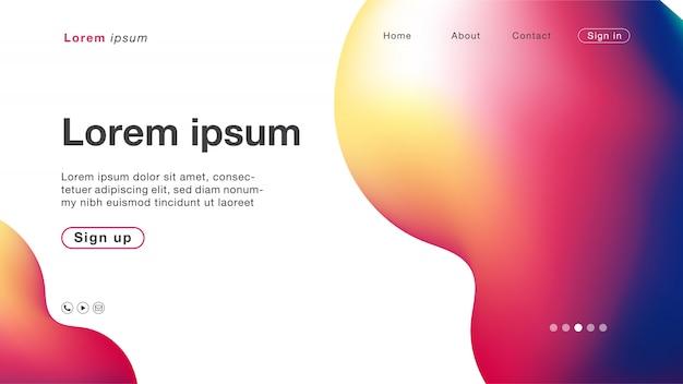 ホームページの背景抽象ホログラムグラデーション曲線