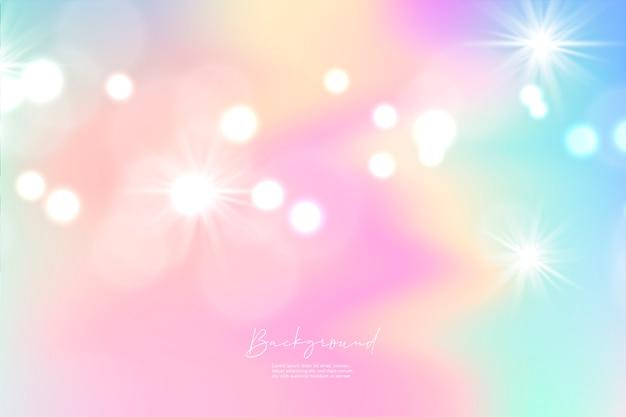 Единорог небо красочный градиент