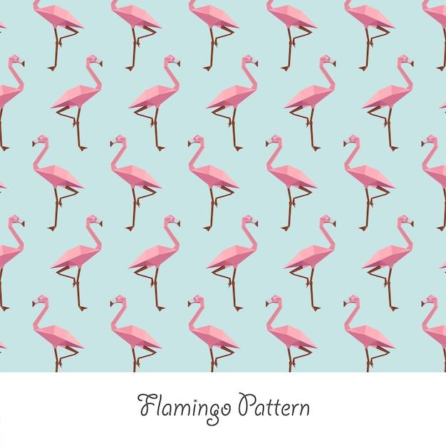 フラミンゴペーパークラフトパステルパターン
