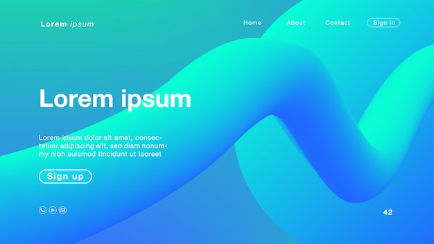 ホームページの抽象的な緑色の青色
