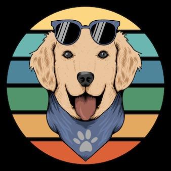 Собака ретро бандана