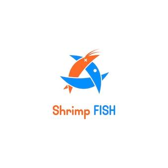 魚はエビのロゴを食べる