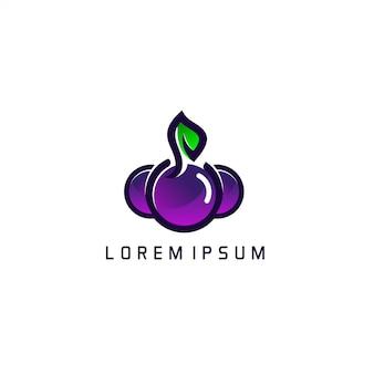 Черная слива шаблон логотипа