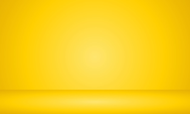 黄色の空部屋の背景