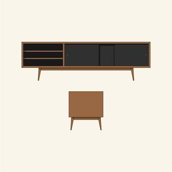 Деревянный стол для телевизора