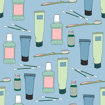 衛生的なアイテムとシームレスなパターン