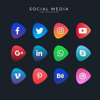グラデーションソーシャルメディアのアイコン