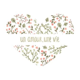 ロマンチックなスタイルの水彩画の花の中心。