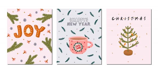 Набор открыток на рождество и