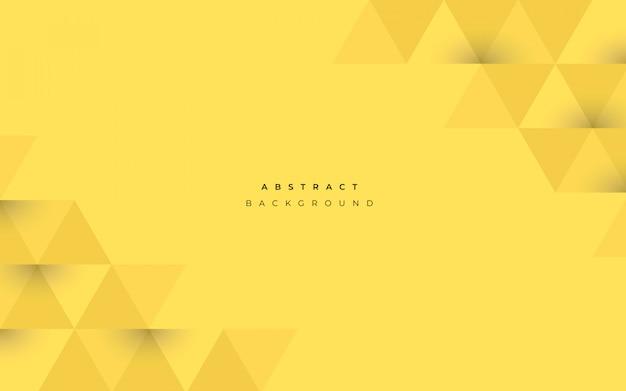 幾何学的図形と抽象的な黄色の背景