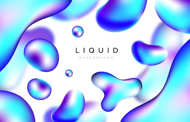 青い液体の形をした抽象的な背景