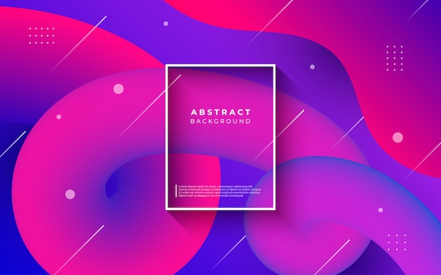 Цветной абстрактный фон с жидкими формами