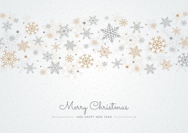 スノーフレーククリスマスの背景