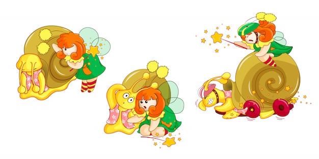 カタツムリと小さな妖精