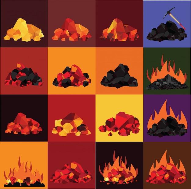 石炭、輝く石炭