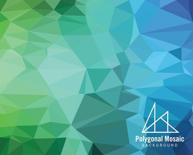 Голубой фиолетовый полигональный мозаичный фон