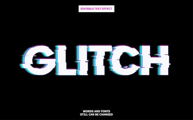 グリッチスタイルの編集可能なフォント効果