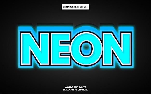 Неоновый текстовый эффект