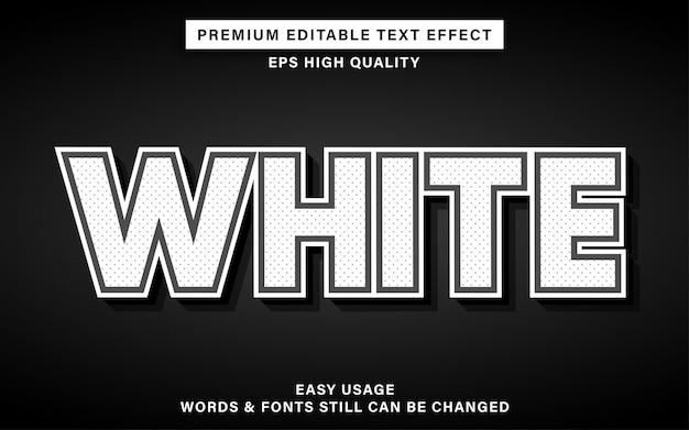 Белый текстовый эффект