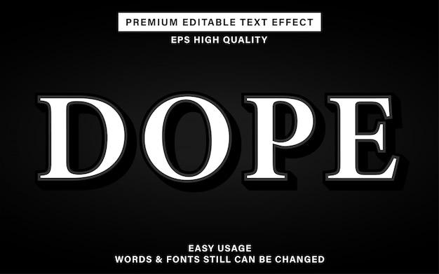 Допинг редактируемый текстовый эффект
