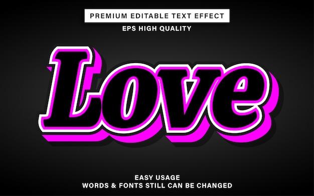Любовь редактируемый текстовый эффект