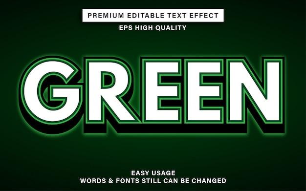 Зеленый текстовый эффект