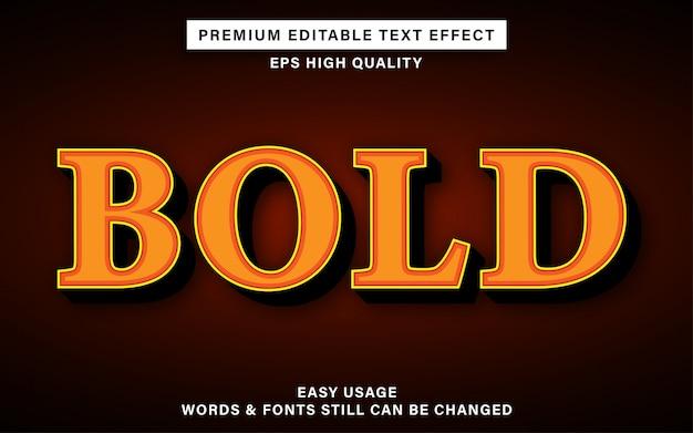 Оранжевый жирный редактируемый текстовый эффект