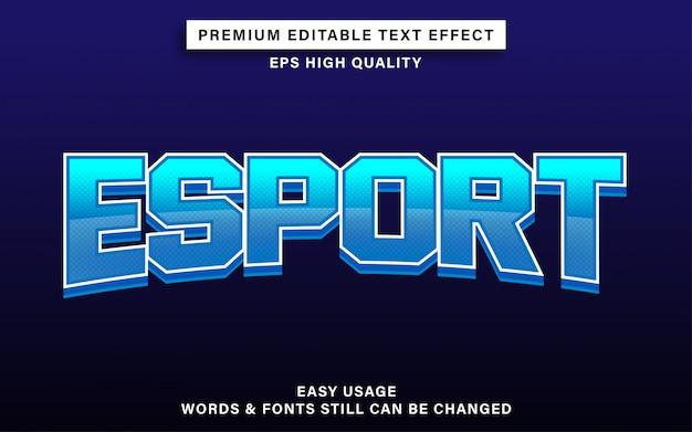 Эспорт текстовый эффект