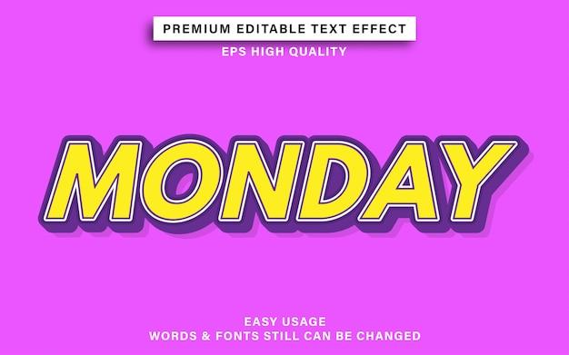 Эффект стиля текста понедельника