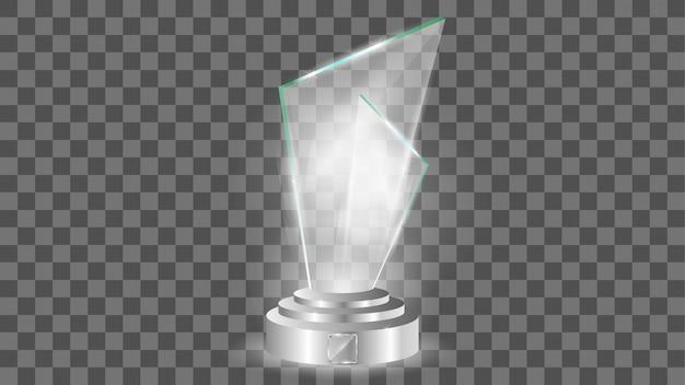 ガラス賞テンプレート、透明な分離