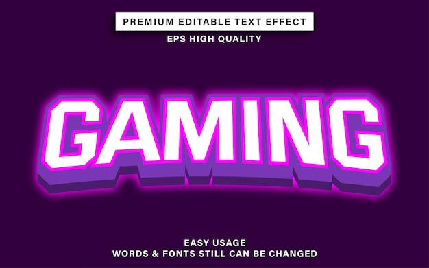 Текстовый эффект в игровом стиле