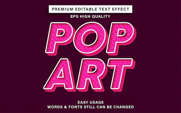 Поп-арт текстовый эффект