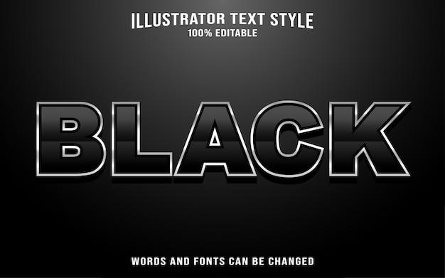 黒のテキストスタイルの効果