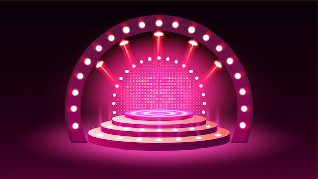 Сценический подиум с подсветкой