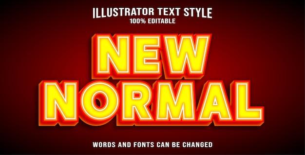Новый нормальный стиль текста