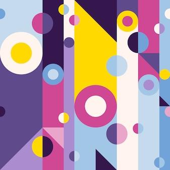 レトロ抽象的なシームレスなパターン。