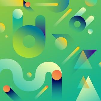 未来抽象幾何学グラデーションの背景。