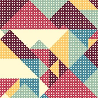 レトロ抽象的なデザインのシームレスなパターン。