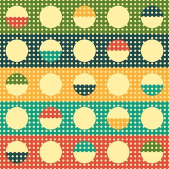 ヴィンテージ抽象幾何学的なデザインのシームレスなパターン。